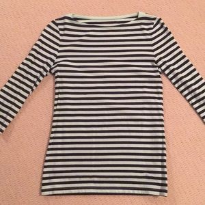 NWOT Green and Dark Blue Striped Shirt; Size XS